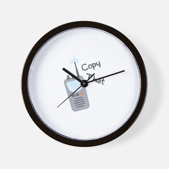 Copy That Wall Clock