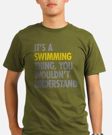 Its A Swimming Thing Organic Men's T-Shirt (dark)