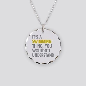 Its A Swimming Thing Necklace Circle Charm