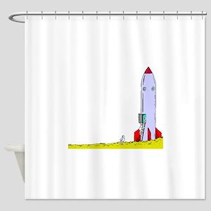 Rocket On Ground Shower Curtain