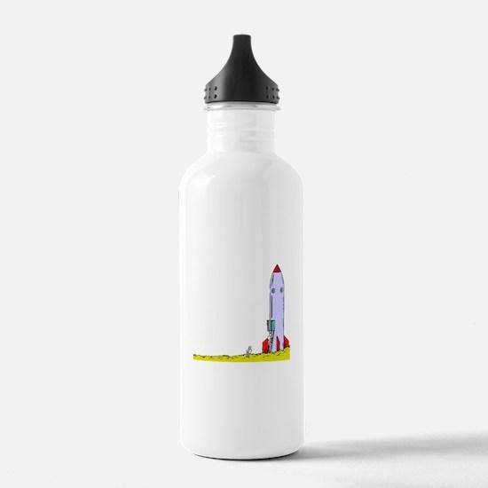 Rocket On Ground Water Bottle