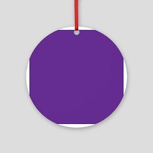 Blue Violet Solid Color Ornament (Round)