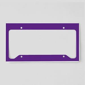Blue Violet Solid Color License Plate Holder