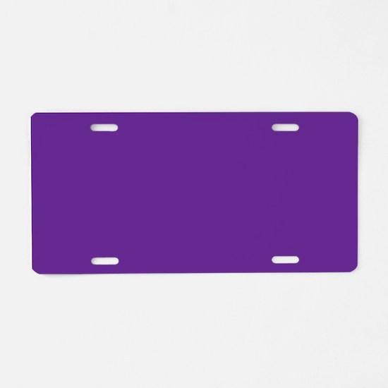 Blue Violet Solid Color Aluminum License Plate