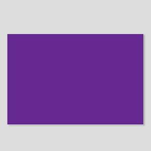 Blue Violet Solid Color Postcards (Package of 8)
