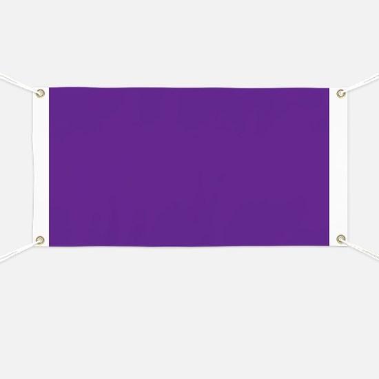 Blue Violet Solid Color Banner
