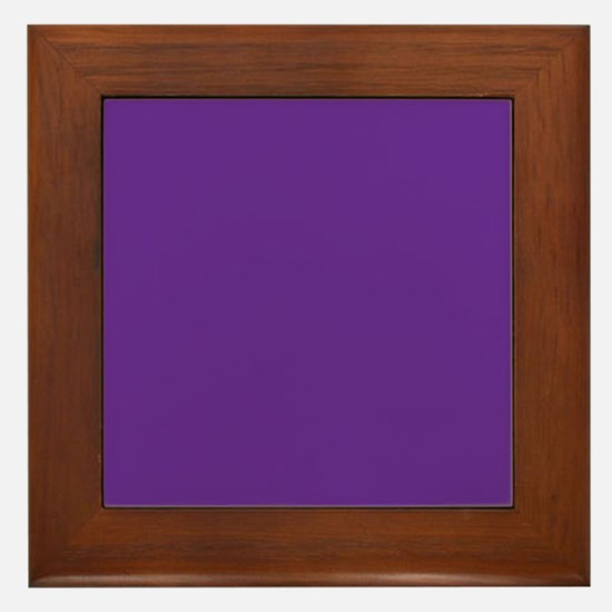 Blue Violet Solid Color Framed Tile
