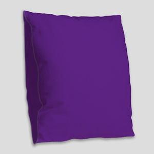 Blue Violet Solid Color Burlap Throw Pillow