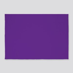 Blue Violet Solid Color 5'x7'Area Rug