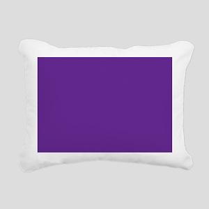 Blue Violet Solid Color Rectangular Canvas Pillow