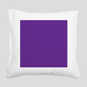 Blue Violet Solid Color Square Canvas Pillow