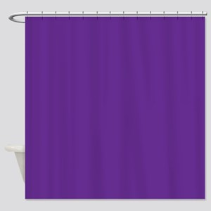 Blue Violet Solid Color Shower Curtain
