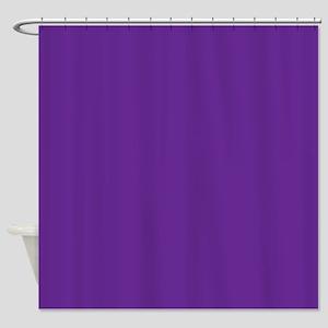 Blue Violet Solid Color Shower Curtain