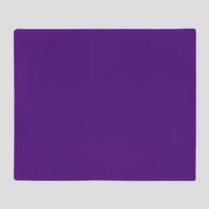 Blue Violet Solid Color Throw Blanket