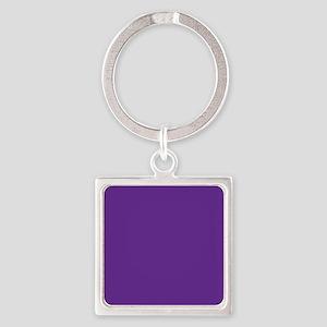 Blue Violet Solid Color Keychains