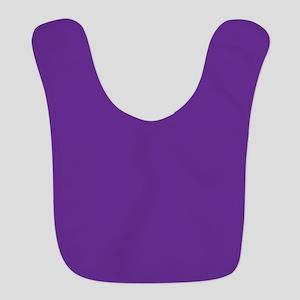 Blue Violet Solid Color Bib