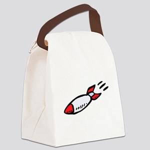 Cartoon Rocket Canvas Lunch Bag
