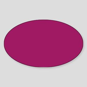 Fuchsia Purple Solid Color Sticker