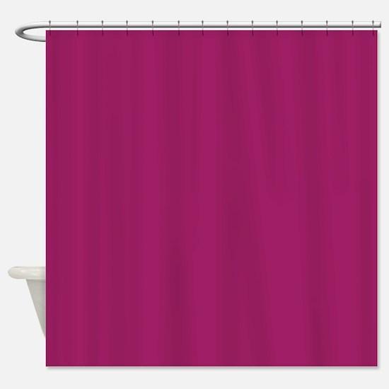Fuchsia Purple Solid Color Shower Curtain