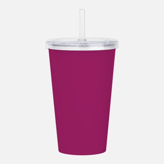 Fuchsia Purple Solid Color Acrylic Double-wall Tum