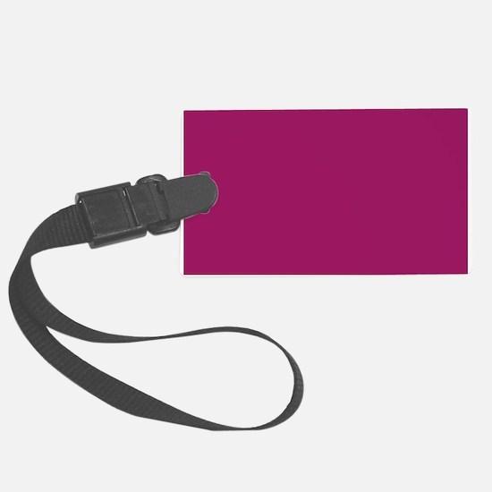 Fuchsia Purple Solid Color Luggage Tag