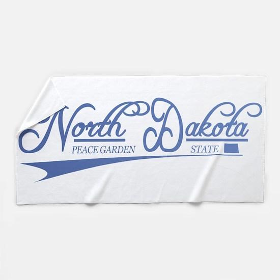 North Dakota State of Mine Beach Towel