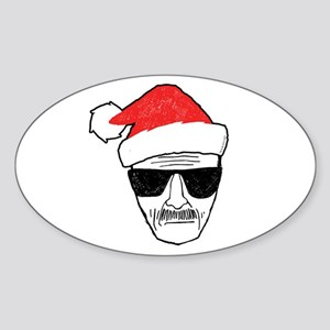 Heisenberg Santa Sticker (Oval)