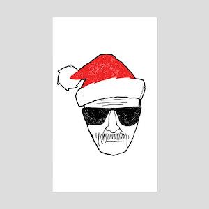 Heisenberg Santa Sticker (Rectangle)