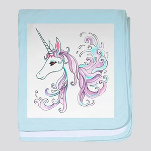 Unicorn baby blanket