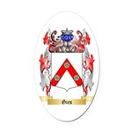Gies Oval Car Magnet