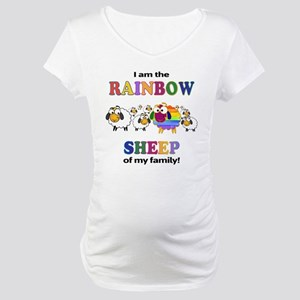 Rainbow Sheep Maternity T-Shirt