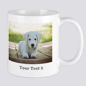 Customize two Photos Two Text Mugs