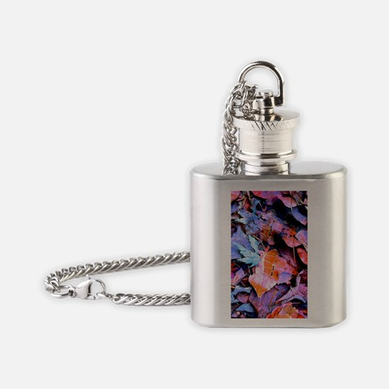 Winter Leaves Flask Necklace