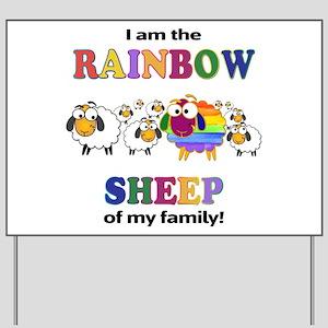 Rainbow Sheep Yard Sign