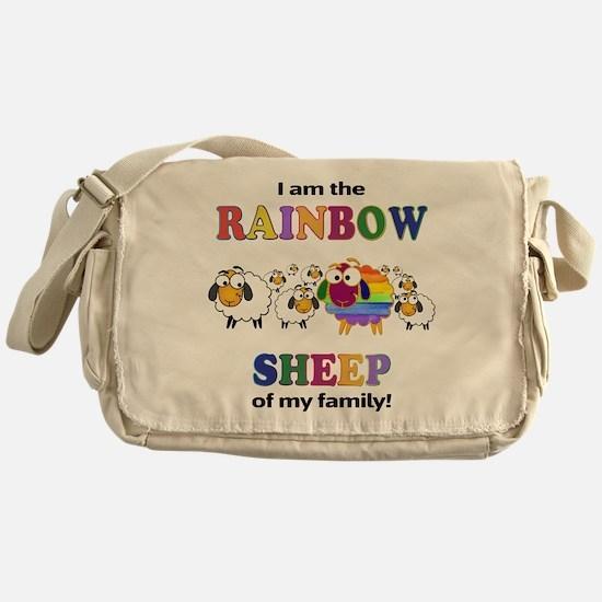 Rainbow Sheep Messenger Bag