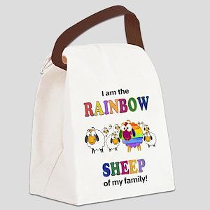 Rainbow Sheep Canvas Lunch Bag
