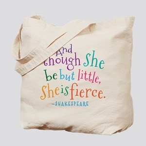 Shakespeare She Is Fierce quote Tote Bag