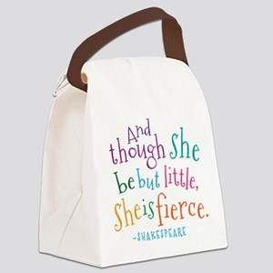 Shakespeare She Is Fierce quote Canvas Lunch Bag