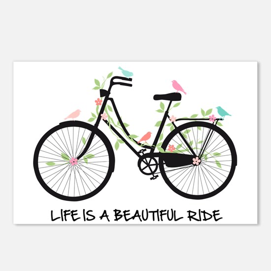 Life is a beautiful ride Postcards (Package of 8)