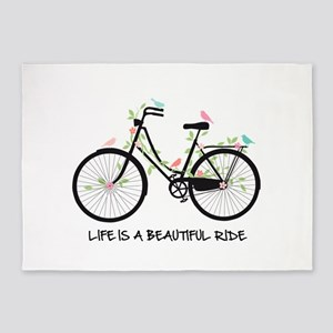 Life is a beautiful ride 5'x7'Area Rug
