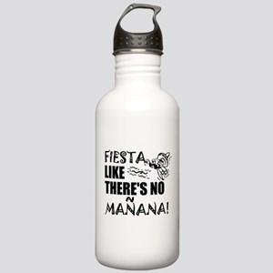 Fiesta Like There's No Stainless Water Bottle 1.0L