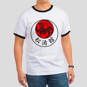 Rising Sun Tiger & Shotokan Kanji Ringer T