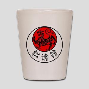 Rising Sun Tiger & Shotokan Kanji Shot Glass
