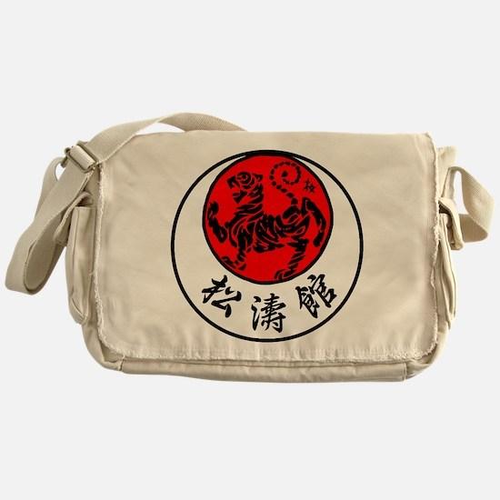Rising Sun Tiger & Shotokan Kanji Messenger Bag