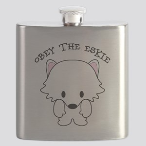 American Eskimo Dog Eskie Flask