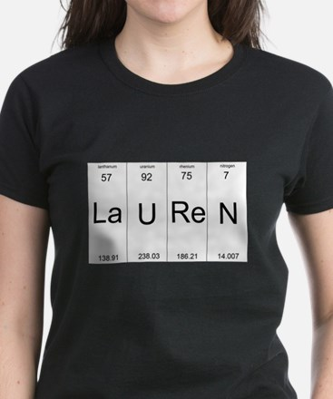 Periodic table elements rhodium science rocks womenss clothing lauren periodic table of elements t shirt urtaz Choice Image