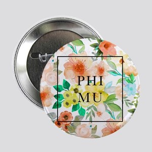 "Phi Mu Floral 2.25"" Button (10 pack)"