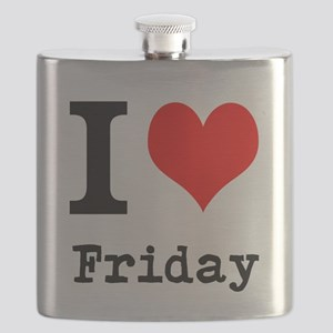 I Love Friday Flask