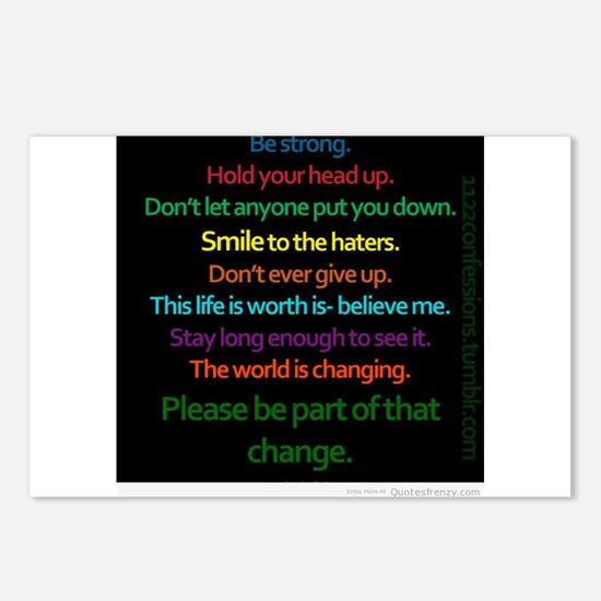 Positive Quotes Postcards (Package of 8)