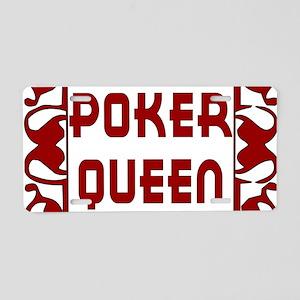 Poker Queen Aluminum License Plate